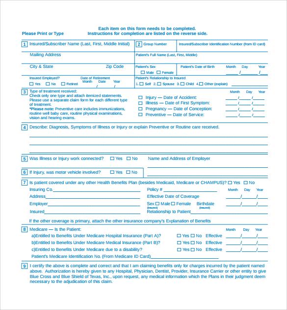 Claim Form In Pdf Claim Form Claim Formclaim Form Calliden - medical claim form