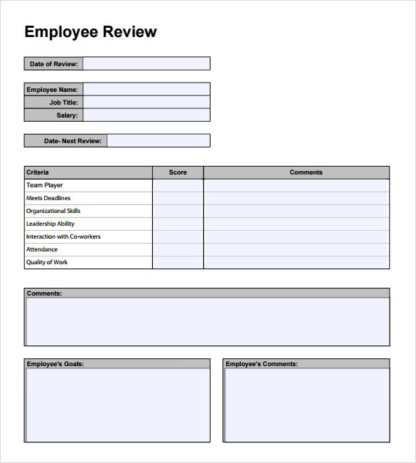 weekly performance review template radiovkm