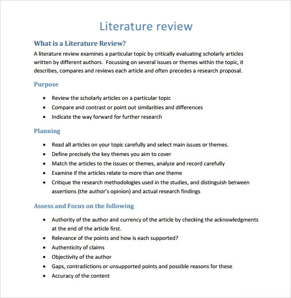 Literature Review Template. Telling A Research Story Writing A ...