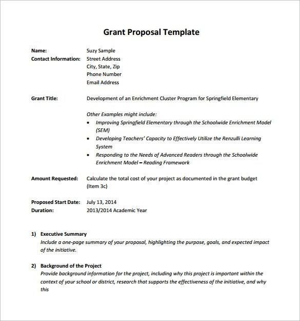 Sample Grant Proposal Assistive Learning Technologies Sample Grant Proposal 8 Documents In Pdf Word