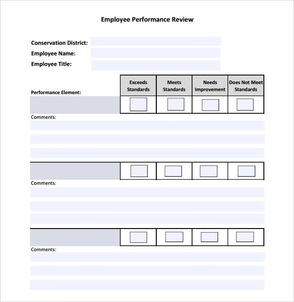 Sample Employee Performance Review Template - 8+ Free Documents - employee review