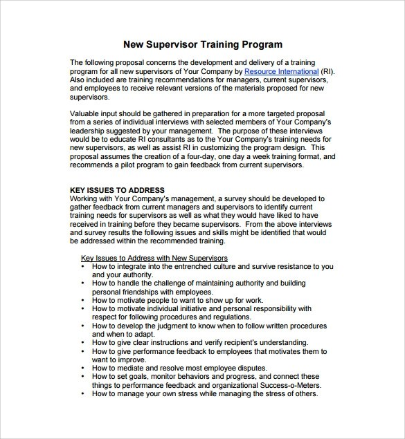 8 Sample Program Proposal Templates to Download Sample Templates