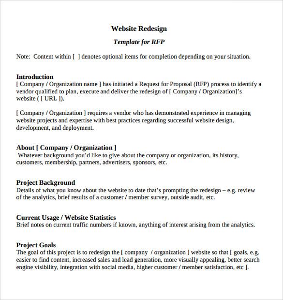 10+ Website Proposal Templates Sample Templates - website proposal sample