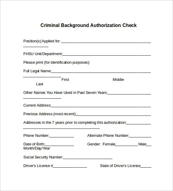 Consent To Background And Reference Check Rocket Lawyer Background Check Form 7 Download Free Documents In Pdf