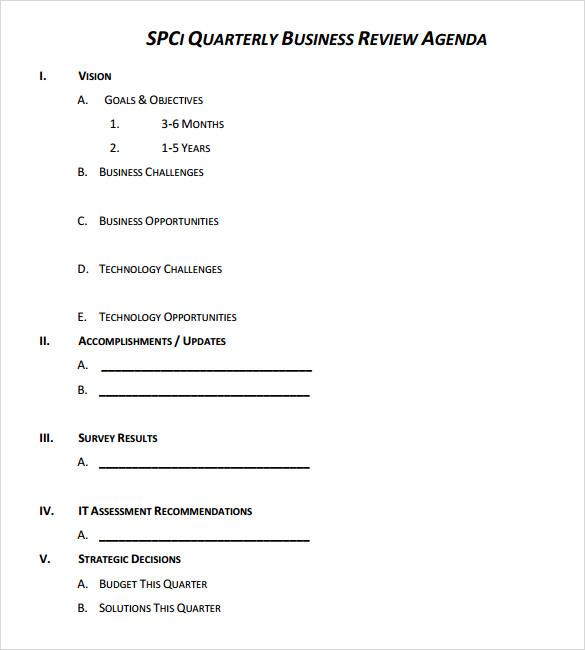 quarterly business review template free xv-gimnazija