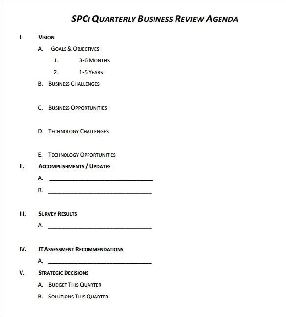 quarterly review templates