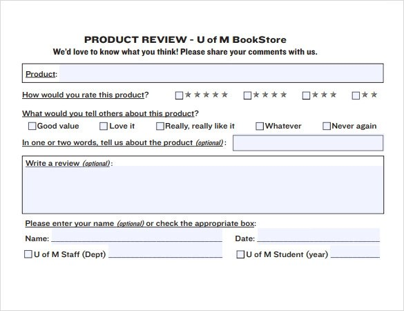 Sample Product Review Template - 6+ Documents in PDF , Word - product review template