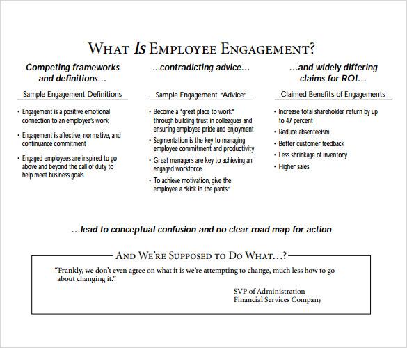 Sample Employment Engagement Survey - 11+ Documents in PDF