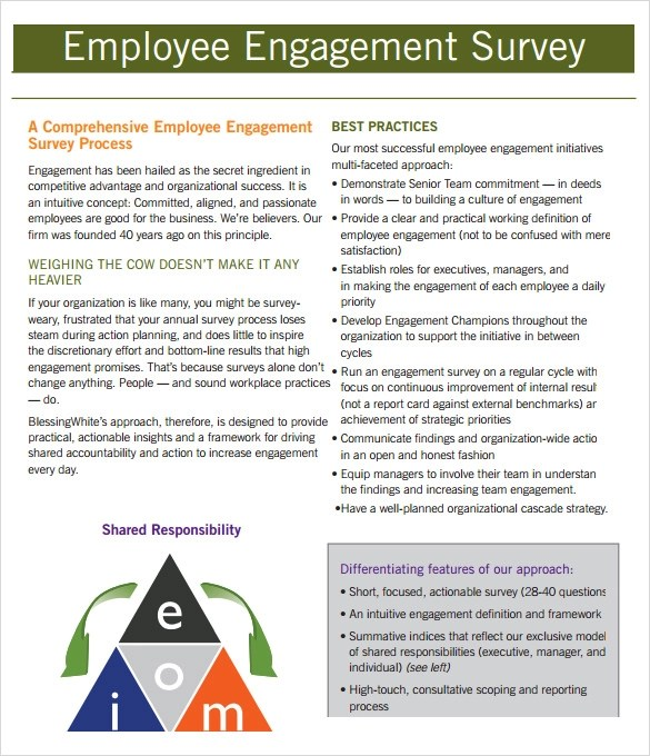 employee opinion survey sle - 28 images - why employee opinion - employment engagement survey template