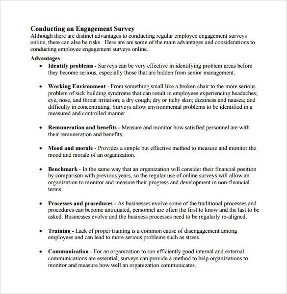employee morale survey sample - Pinarkubkireklamowe