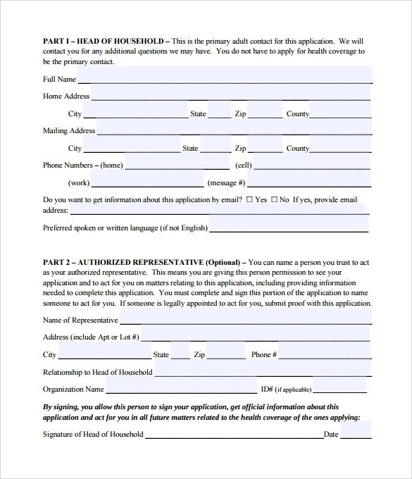 Medicare Application Form Medicare Application Forms Documents Free - fema application form