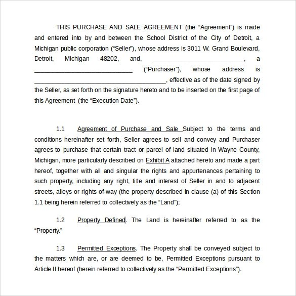 Land Purchase Agreement Template - 17+ Download Free Documents in
