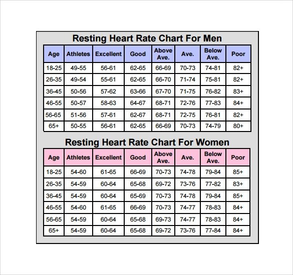 11+ Heart Rate Chart Templates Sample Templates - Rate Chart