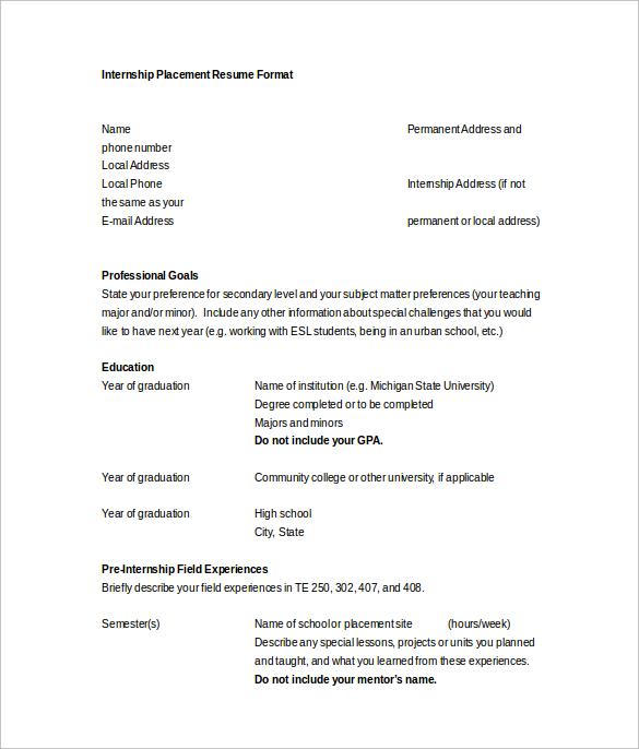10+ Word Resume Templates \u2013 Samples, Examples  Format Sample