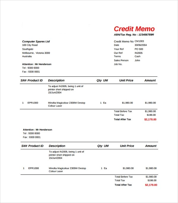 Credit Request Form Sample | Reference Quotes
