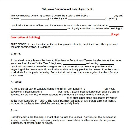 Standard Lease Agreement Templates - 8+ Samples , Examples  Format