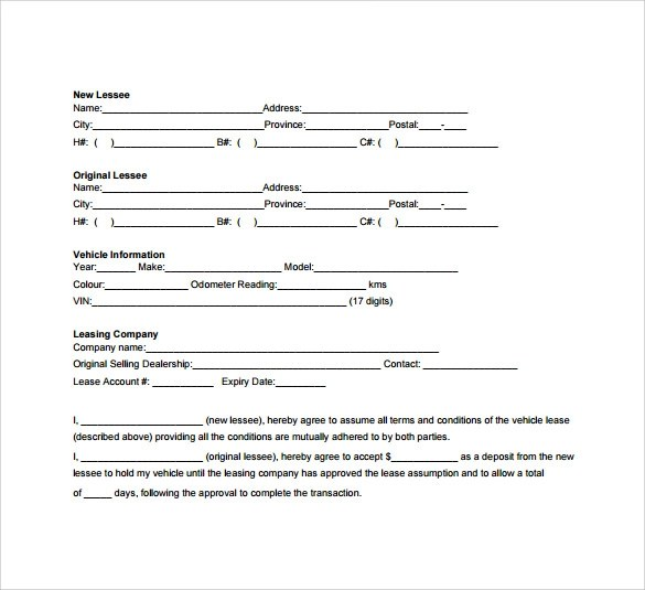 8 Car Lease Agreement Templates \u2013 Samples , Examples  Format - Example Of Agreement Between Two Parties