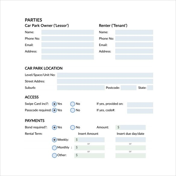 8+ Car Lease Agreement Templates - Word, PDF, Pages