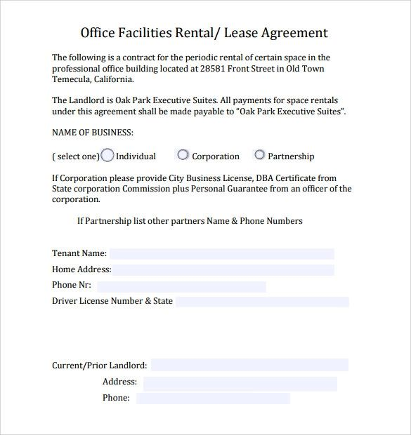 leasing templates free