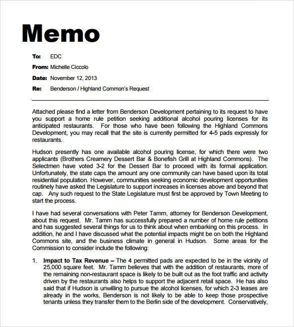 7+ Professional Memo Templates - Sample Word, Google Docs Format