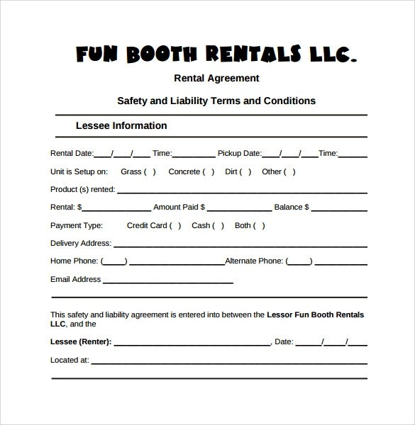 Free rental agreement template - visualbrainsinfo