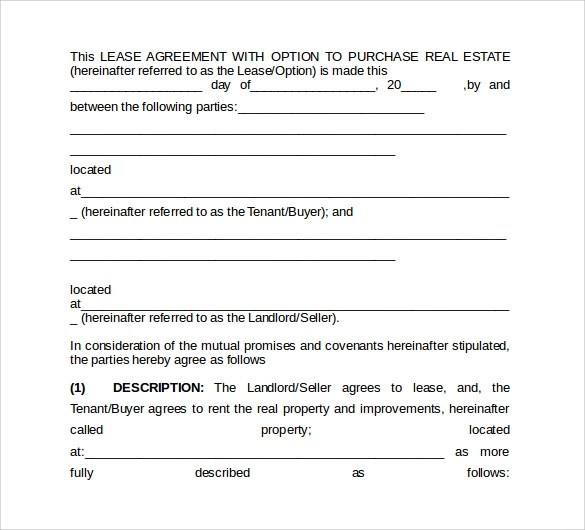 9+ Office Lease Agreement Templates \u2013 Samples, Examples  Format