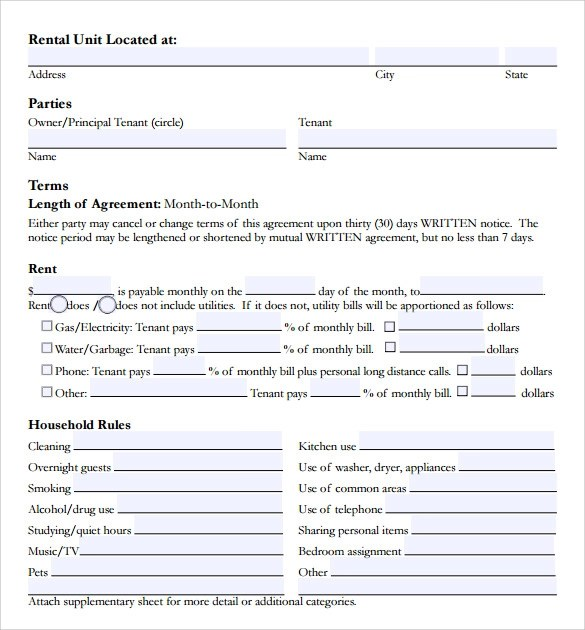 Sample Room Lease Agreement Template - 15 + Free Documents in PDF, Word