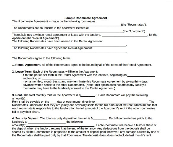 15+ Room Lease Agreement Templates \u2013 Samples, Examples  Format