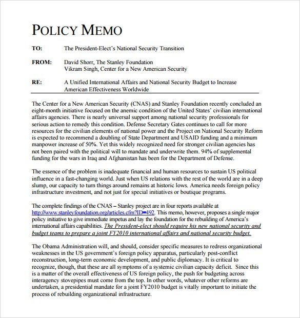 Sample Policy Memo Policy Memos Examples Eb Adjudications Policy - memo layout examples