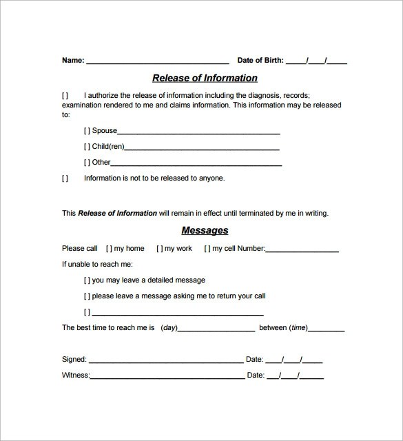 Hipaa Authorization Form - 7+ Documents Download In PDF, Word - hipaa form