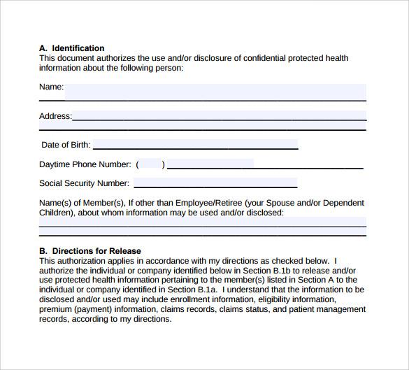 hipaa authorization form - solarfm - hipaa form