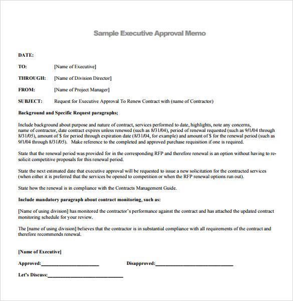 memorandum example business