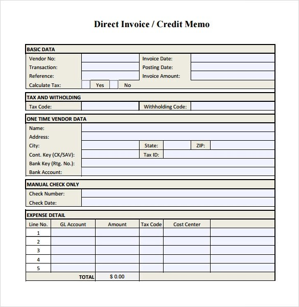 Credit Note Form Download | Business Plan For Clothing Line