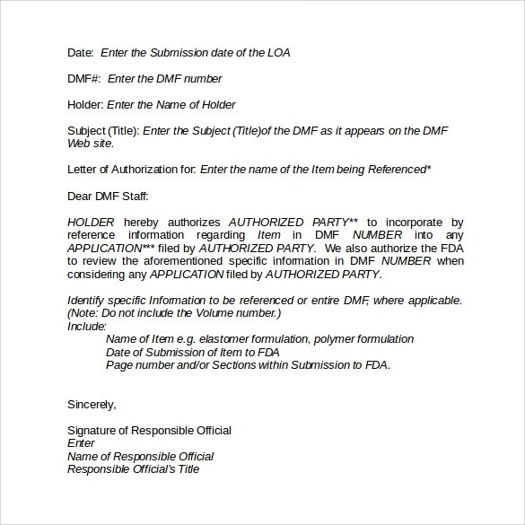 8 Sample Letter Of Authorization Forms Download for Free Sample