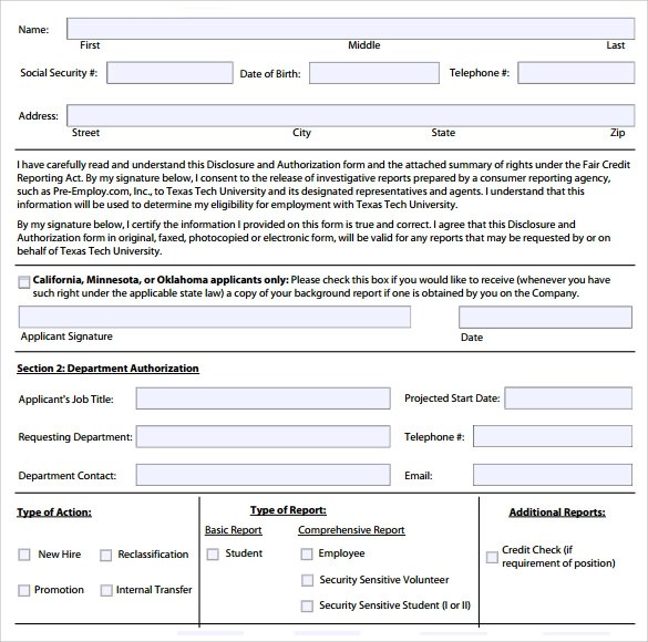 Background Check Report Tenant Screening, Credit Check - background check release form