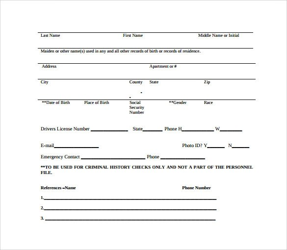 11 Background Check Authorization Forms to Download Sample Templates - background check form