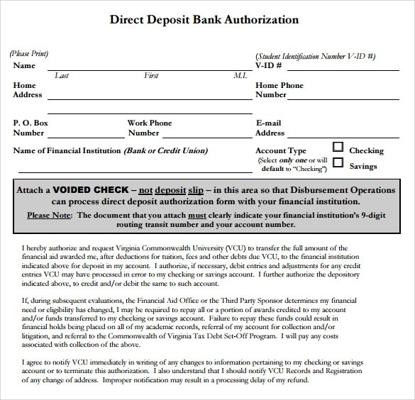 Credit Authorization Form Bank Of America   Professional resumes ...