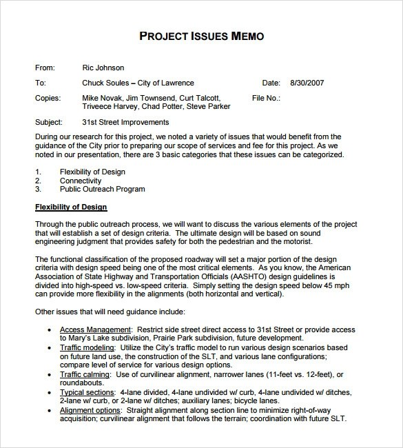 9+ Sample Company Memo Templates Sample Templates - company memo template