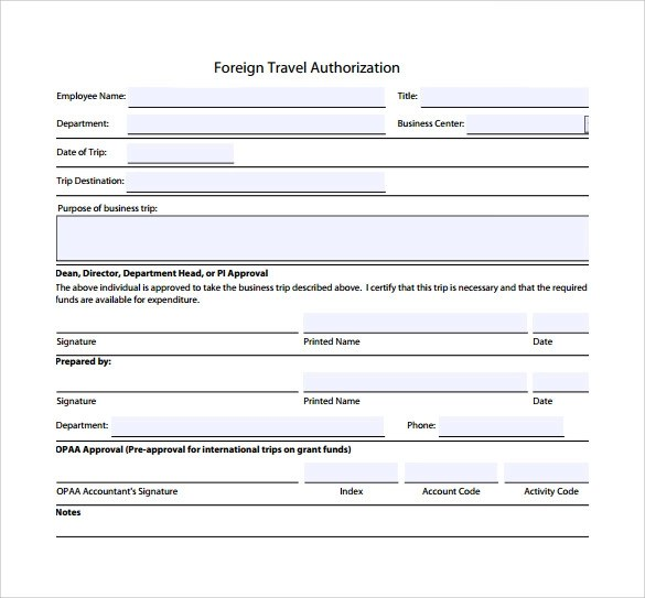 travel form template - Militarybralicious - account form template
