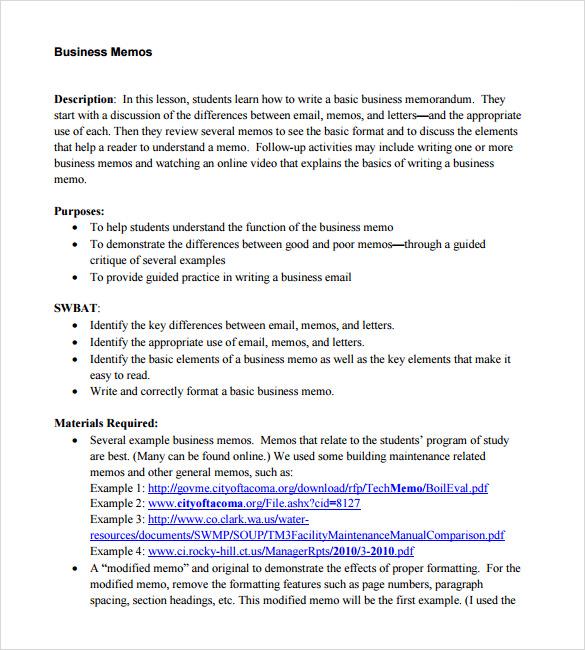 business memo writing sample - Tikirreitschule-pegasus - Sample Business Memo