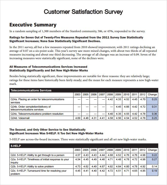 8 Client Satisfaction Survey Templates Free Sample