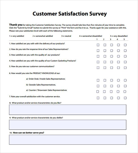 9+ Sample Client Satisfaction Survey Templates Sample Templates