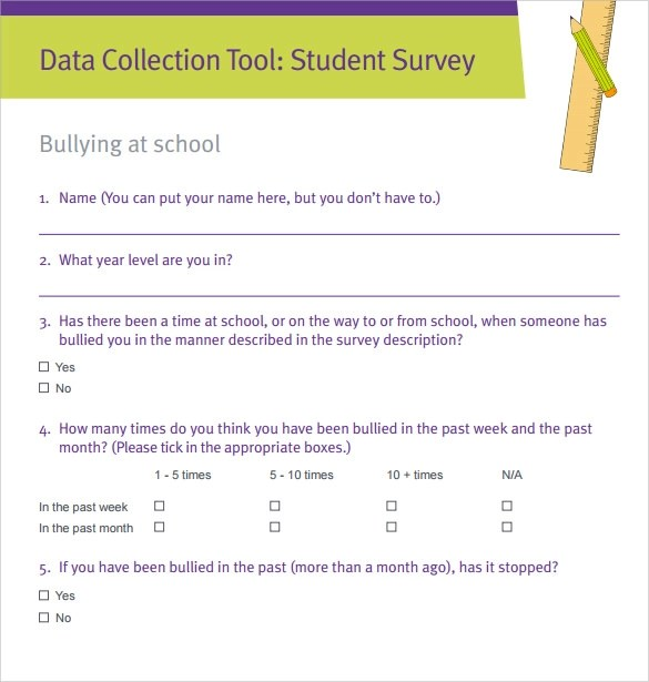 7+ Student Survey Samples Sample Templates - sample student survey