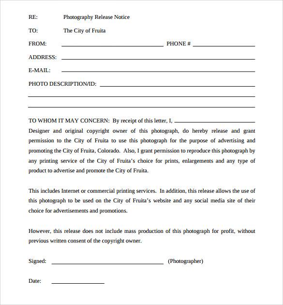 permission to print release form - Klisethegreaterchurch