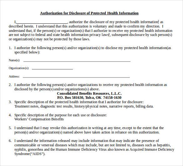 hipaa release form word document - Ordekgreenfixenergy