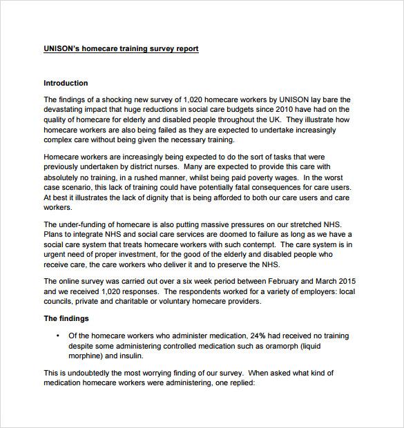Sample Training Survey \u2013 14+ Example, Format