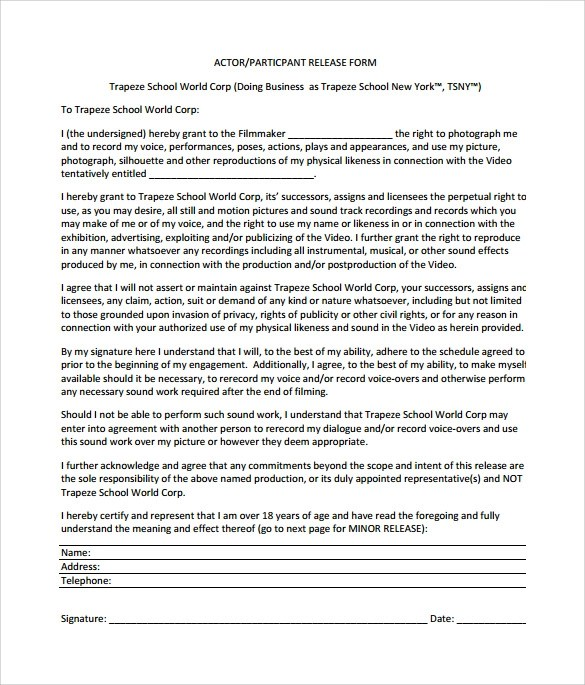 Artist Release Form Release Form \u2013 Release-Form SooooooooojungSample