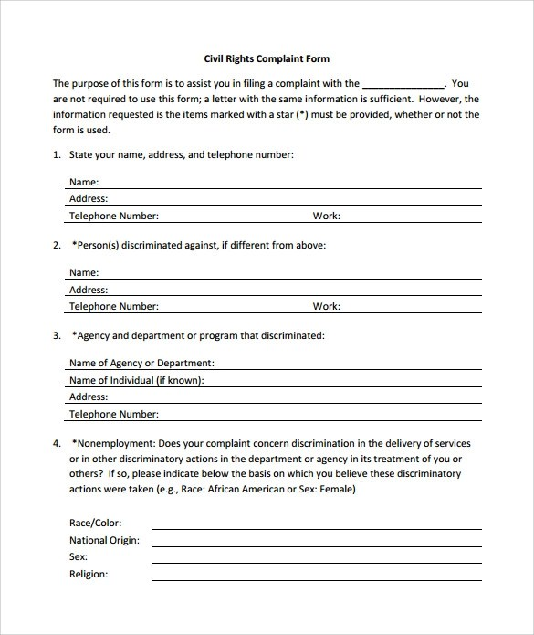 7 Sample Civil Complaint Forms to Download Sample Templates - Civil Summons Form