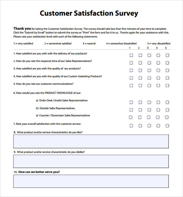 free customer satisfaction survey template - 28 images - patient - free customer complaint form template