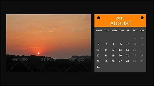 9+ Power Point Calendar Templates \u2013 Samples, Examples  Format